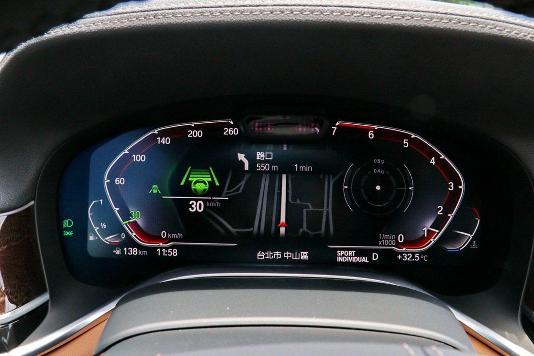 半自動駕駛功能使用起來相當順手。 記者陳威任/攝影