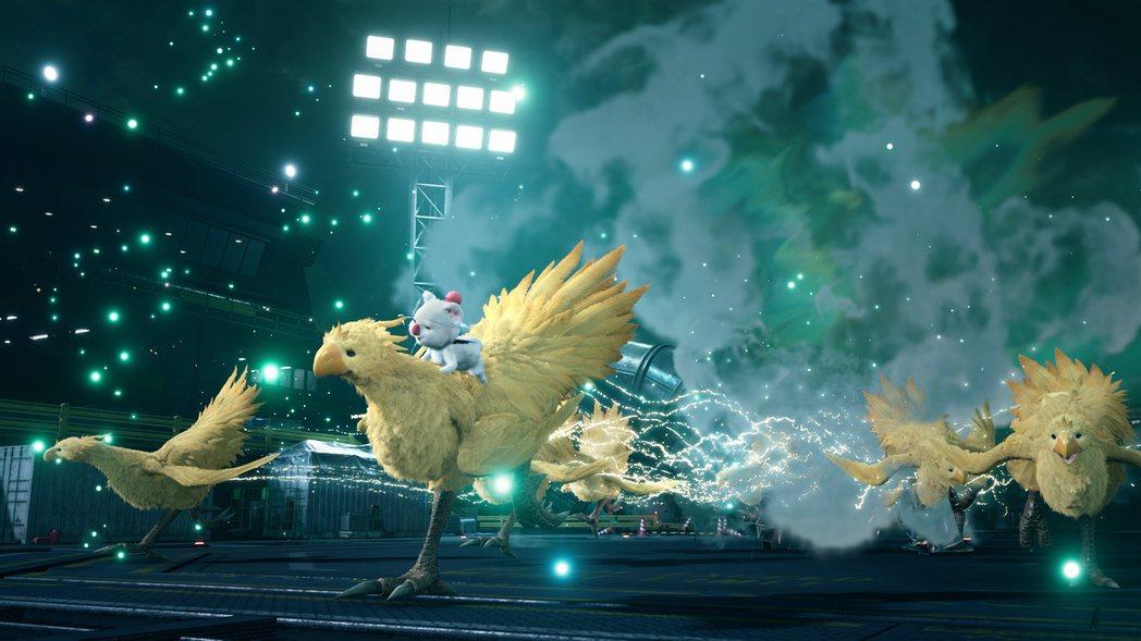 陸行鳥&莫古利的大絕招「大絕招!!」會和眾多陸行鳥一起衝撞敵人。