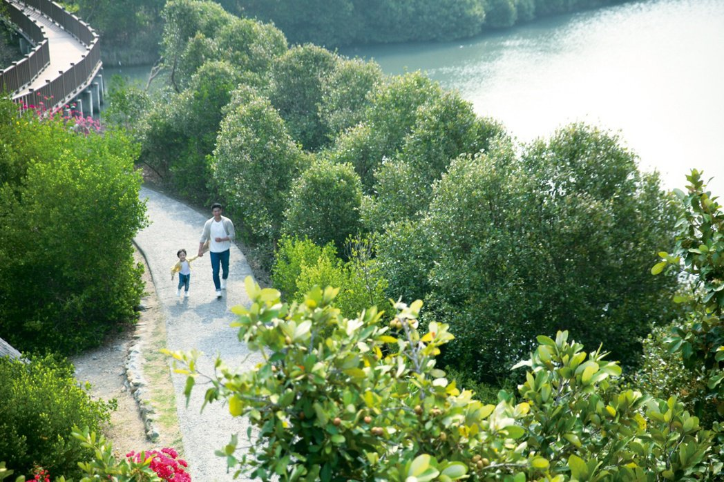 濕地公園讓民眾能隨時親近自然,創造都市裡住家與自然難得的連結性。 圖片提供/潤...
