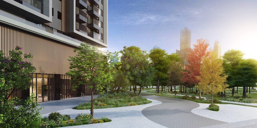 品牌建商潤隆建設結合在地自然與人文,打造美術濕地公園旁最耀眼的建築。 圖片提供...