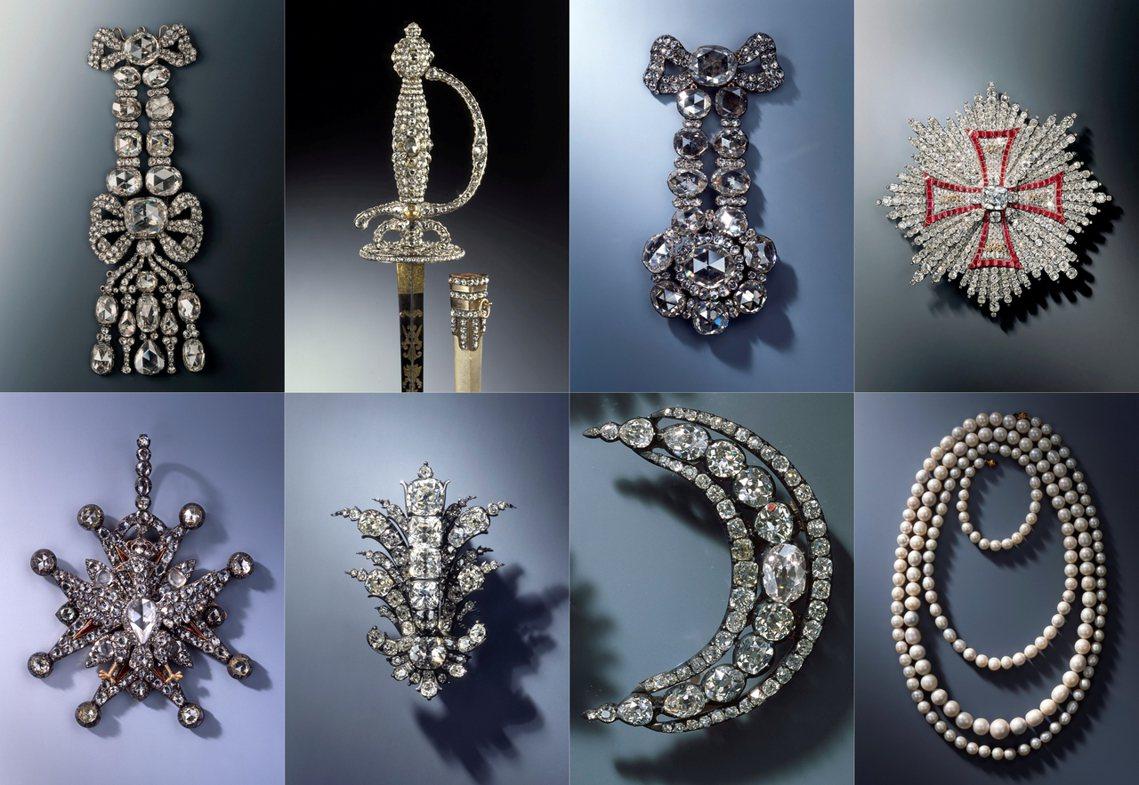 遭竊賊鎖定的3組珠寶是由100多個組件組成,德國《畫報》(Bild)表示市價估計...