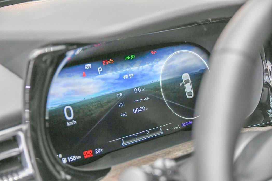 第三代Kia K5使用全新的12.3吋數位儀表。 摘自Kia