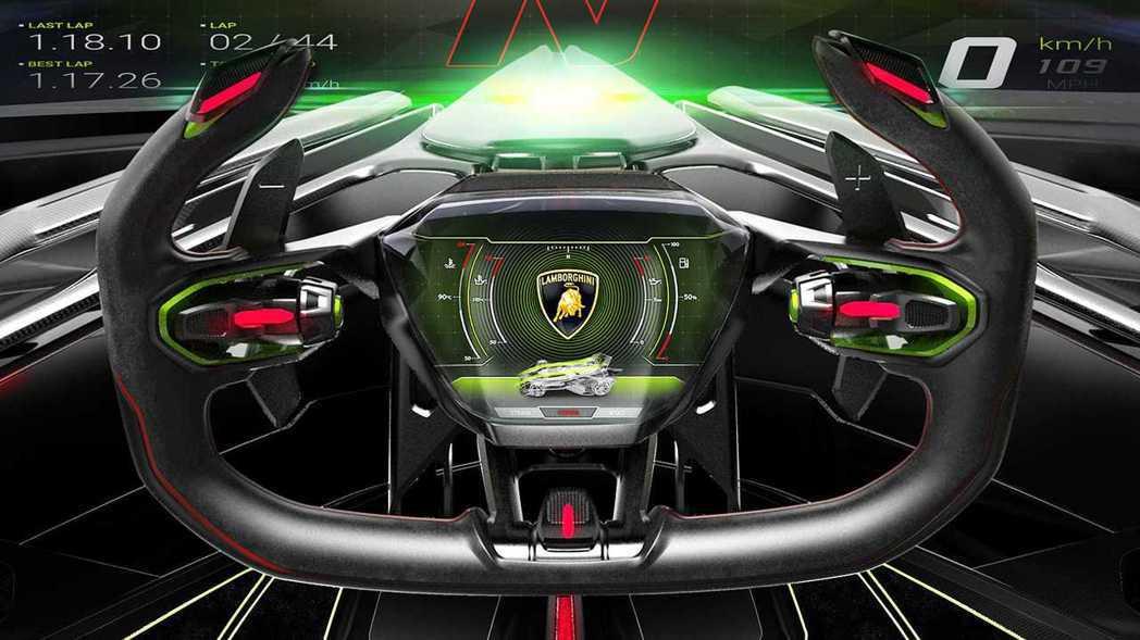 方向盤上就是這輛車所有能夠操控的地方。 摘自Lamborghini
