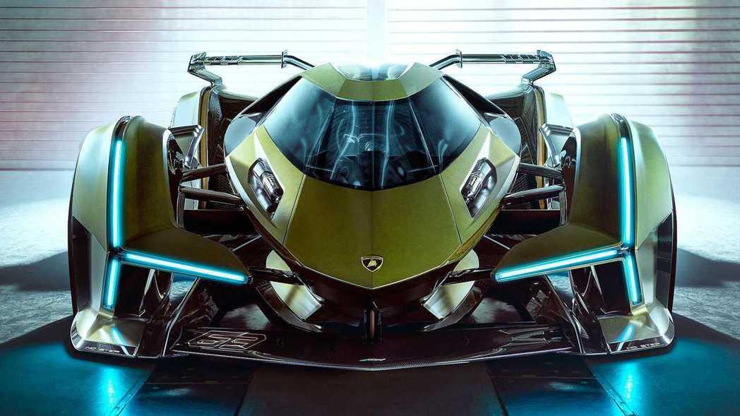 Lambo V12 Vision GT 。 摘自Lamborghini