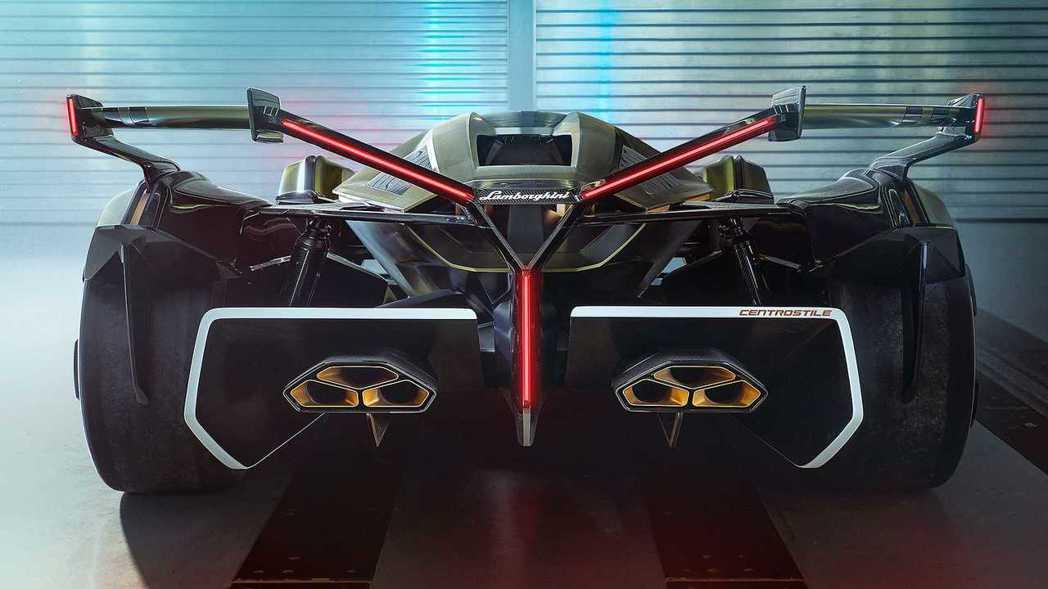 Lambo V12 Vision GT車尾也是滿滿的Y字元素。 摘自Lambor...