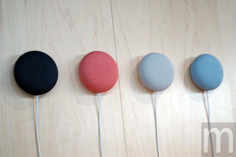 先前在紐約發表會上展示的NEST Mini所有配色