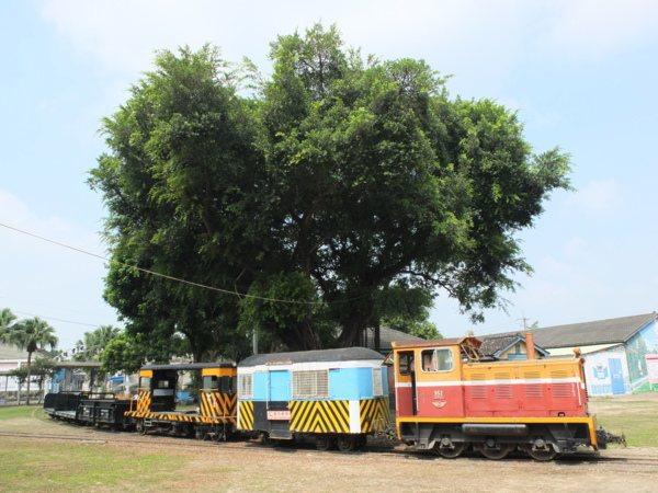 戶外停放著許多已退役停駛的老舊火車,其中會看到國寶級勝利號和成功號客車。
