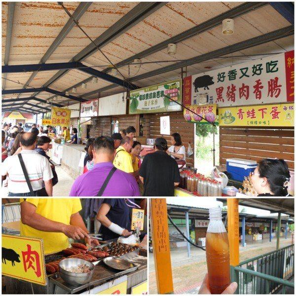 新頂埤站是烏樹林五分車的終點站,會在此停留一小段時間,有商家攤販可以買些好吃的或買飲料解渴。