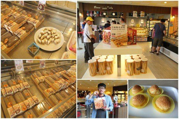 逛玩主題館銜接著商品販售區,展售各式各樣可口的糕餅、千層蛋糕、鳳梨酥、蛋捲等品項,還有精美得體的禮盒系列,越看越想買!