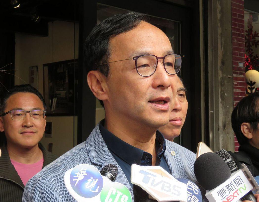 前新北市市長朱立倫表示,處理共諜案這類事件,一定要非常謹慎小心的查證。記者張弘昌...