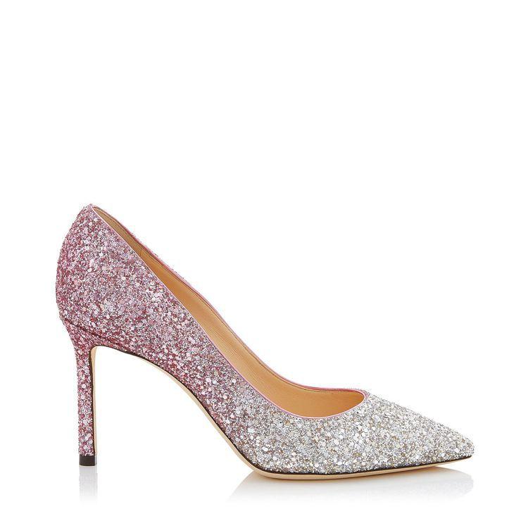 Romy亮片漸層高跟鞋,26,800元。圖/Jimmy Choo提供