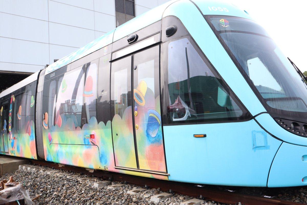 漂浮城市主題列車。圖/摘自新北捷運公司網站