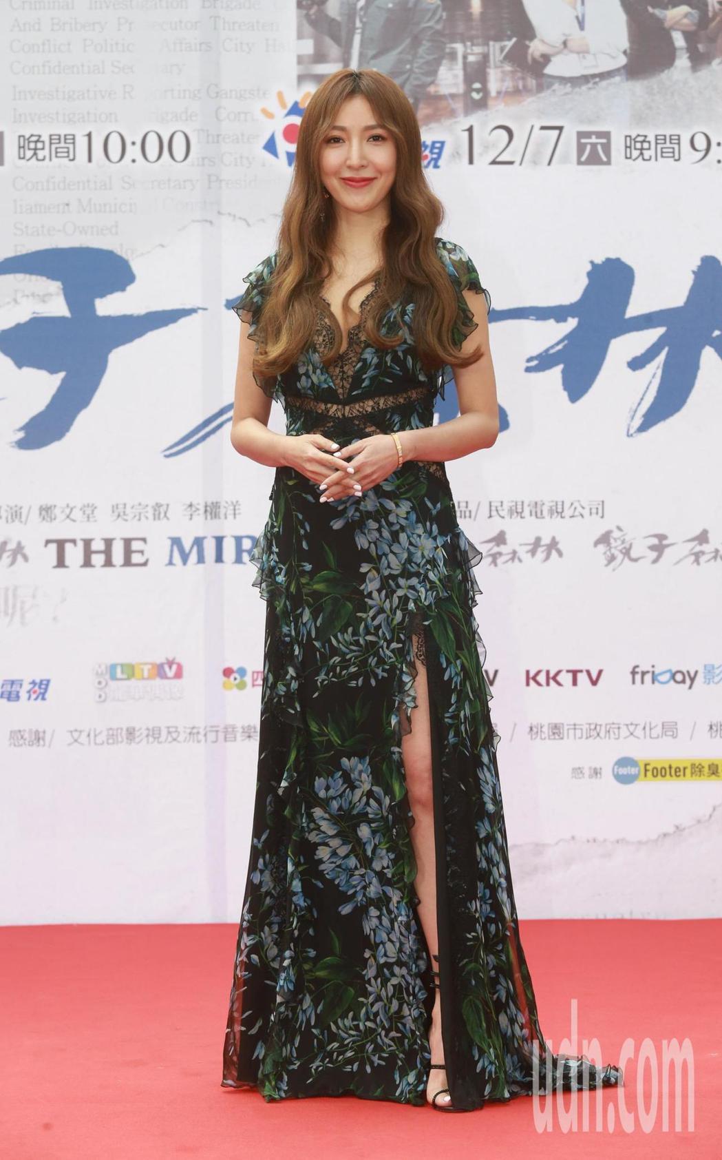 民視「鏡子森林」首映會,演員楊謹華出席首映。記者黃義書/攝影
