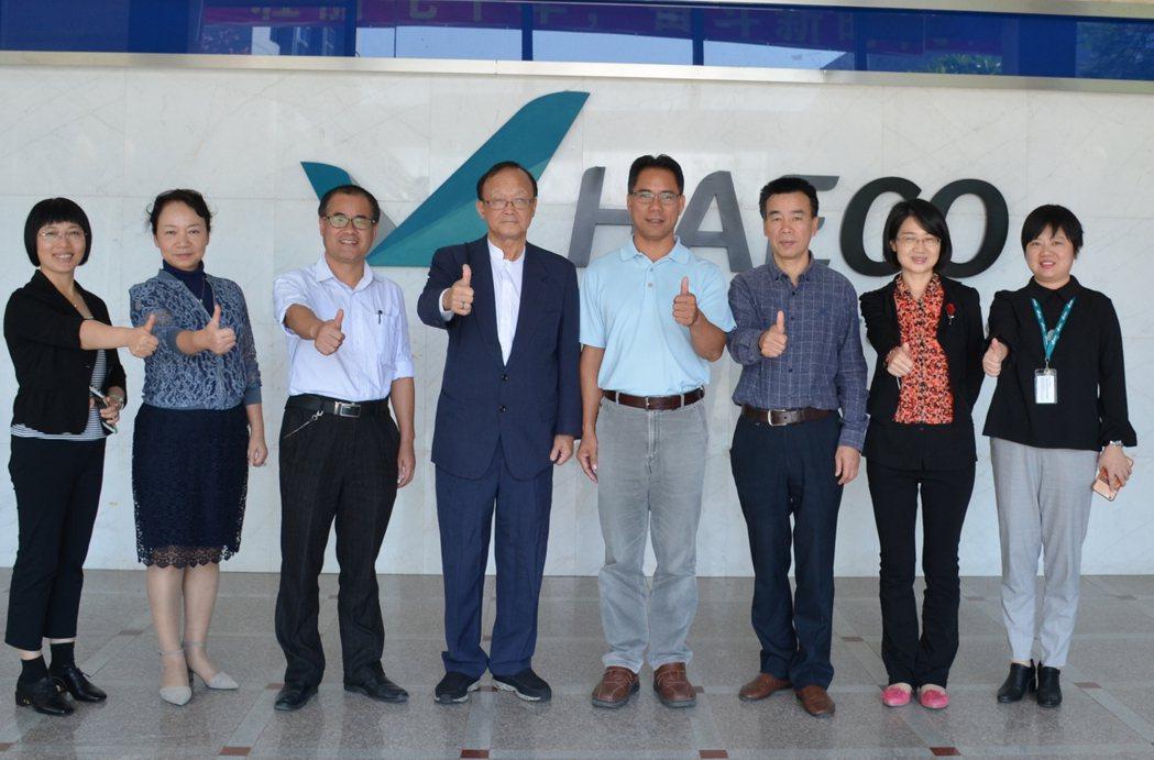 大榮中學參訪太古飛機工程有限公司。圖/大榮中學提供