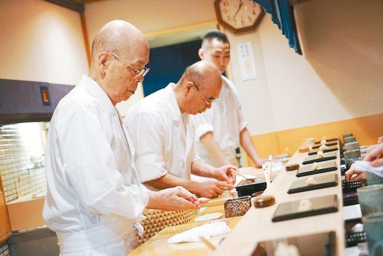 因為不開放一般民眾訂位,因此「壽司之神」小野二郎主理的「數寄屋橋次郎」今年未入榜...