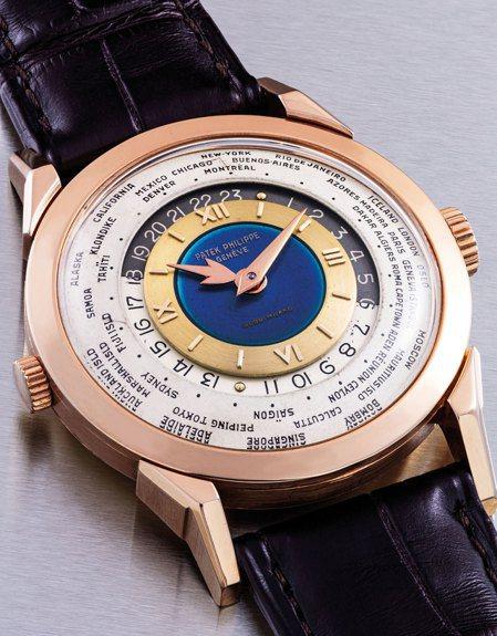 百達翡麗的Ref.2523世界時區琺瑯彩繪腕錶,日前拍出約2.77億台幣,創下亞...