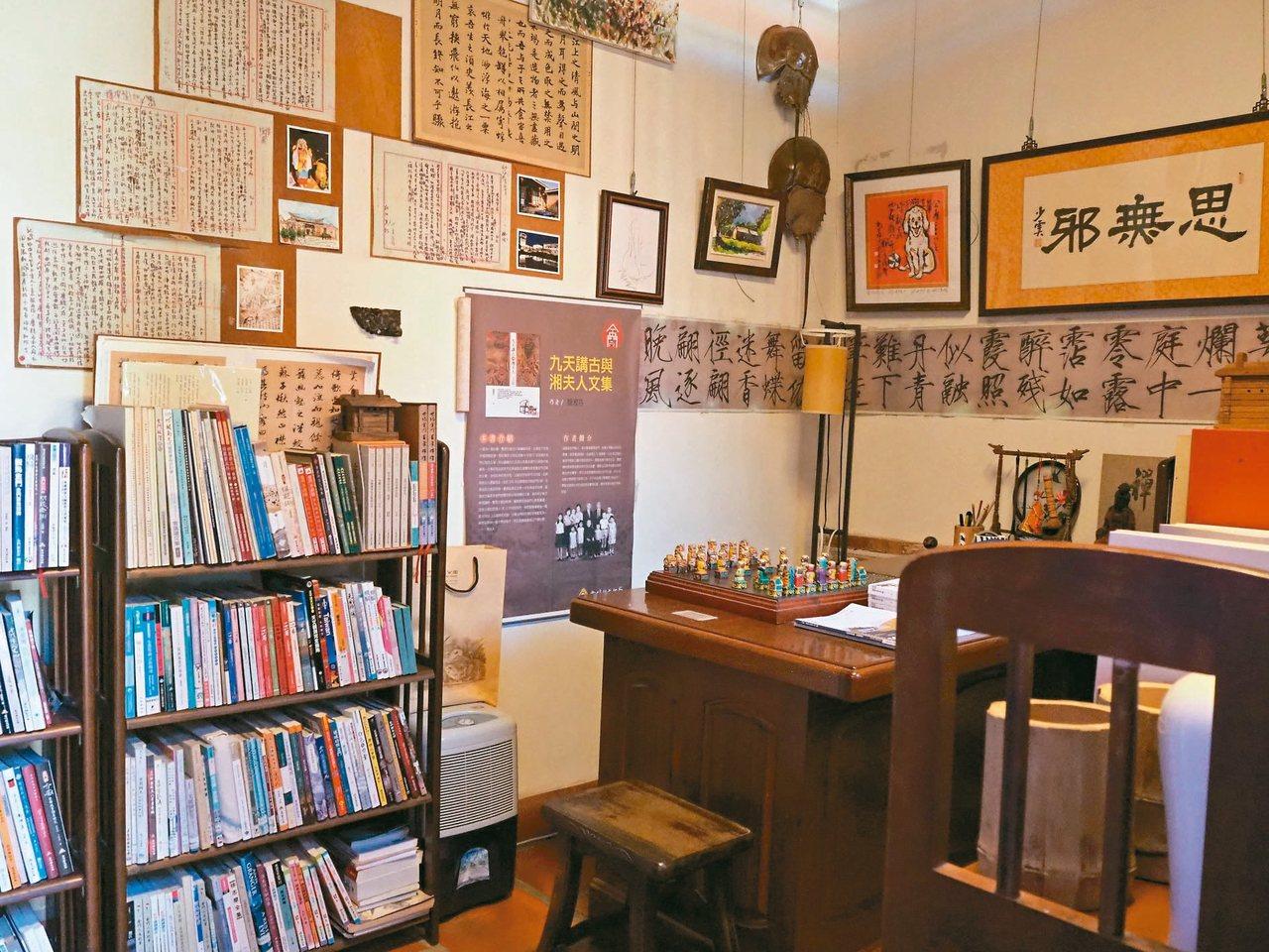 水調歌頭的書房。 記者羅建怡/攝影