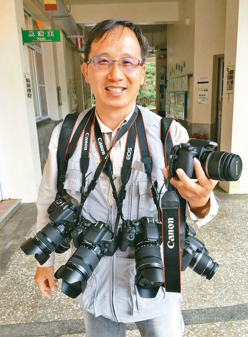 黃源明攝影記錄阿里山30多年,退休後花更多時間享受攝影。 圖/黃源明提供