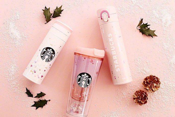 日本星巴克推粉紅新品。圖/摘自日本星巴克網站