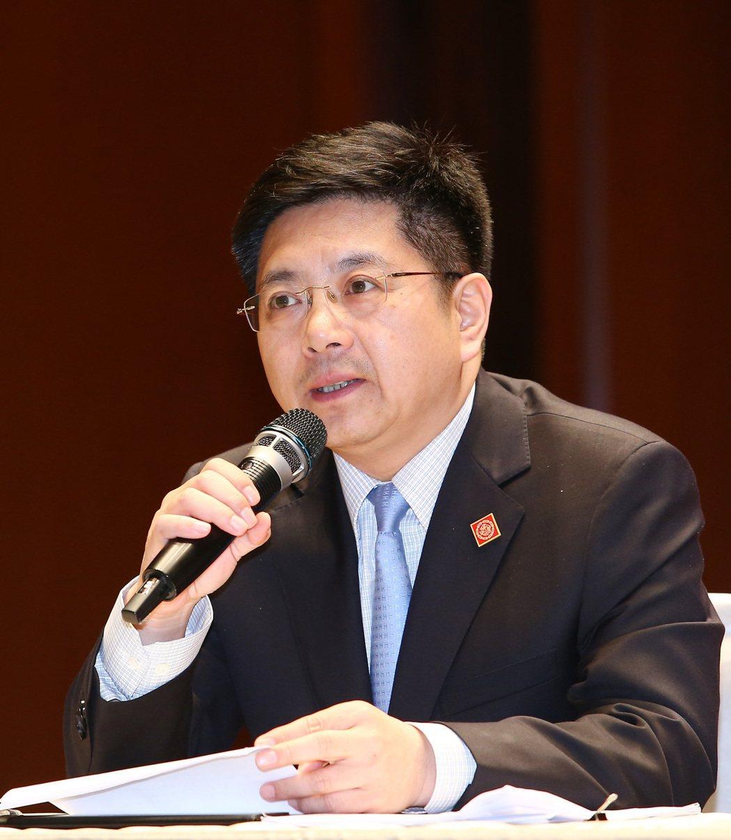 國台辦新聞局長兼發言人馬曉光在2015年5月第三次「夏張會」後舉行記者會。 圖/...