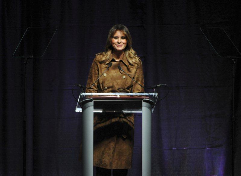 美國第一夫人梅蘭妮亞.川普(Melania Trump)。 美聯社
