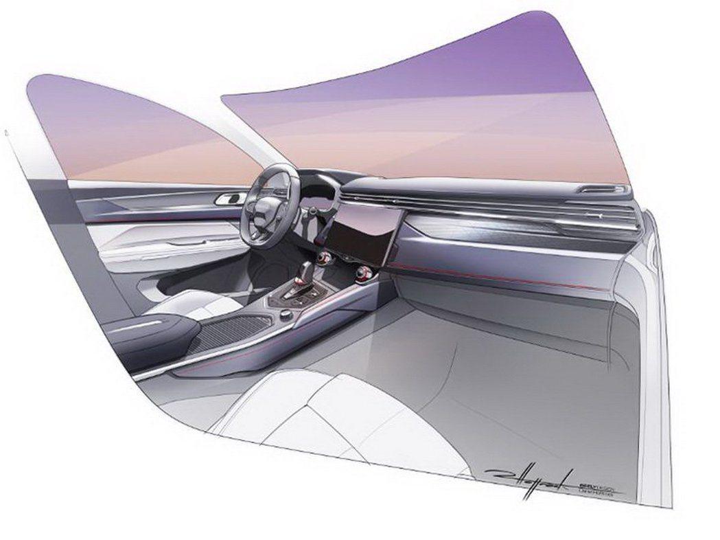 Lynk&Co領克05內裝設計草圖。 摘自領克汽車微博