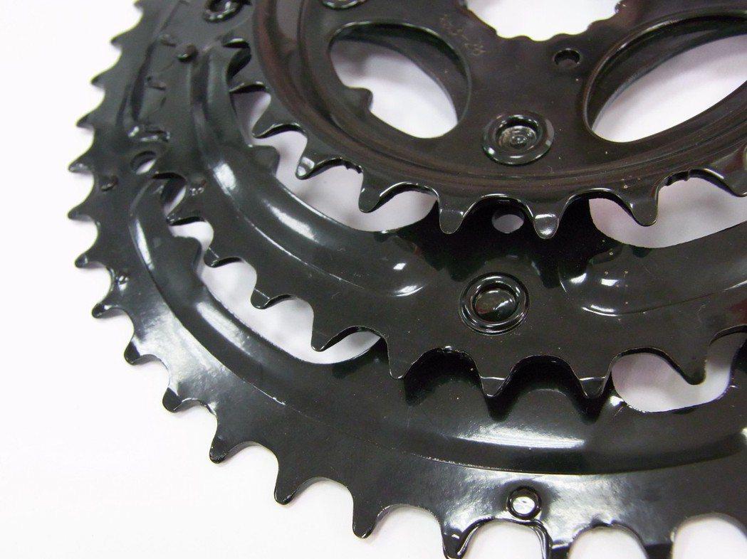 尚化電著塗料用於自行車零件 。  尚化/提供