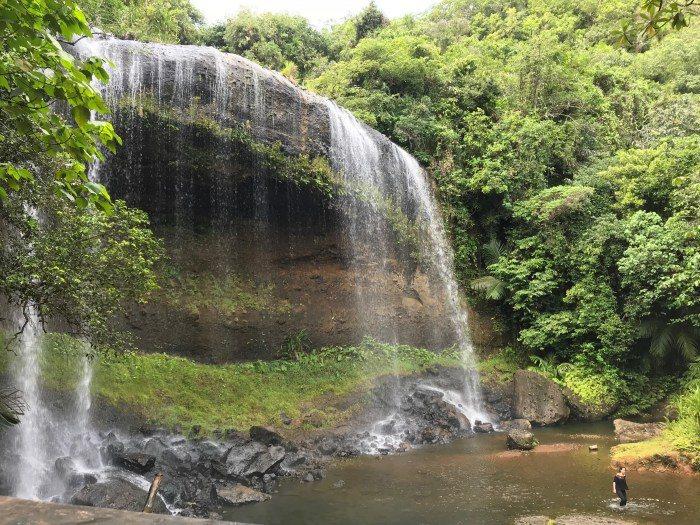 帛琉安得貌大瀑布。 圖/FunTime
