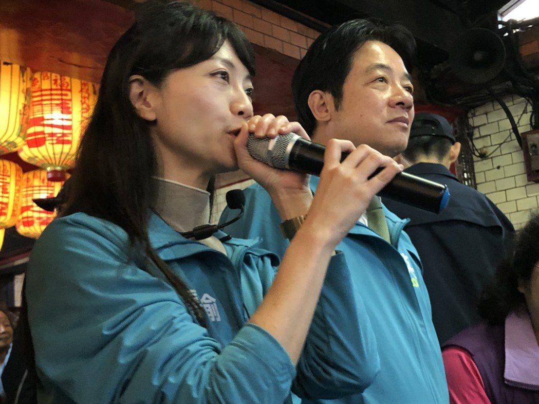 民進黨副總統參選人賴清德今到南港輔選台北市議員高嘉瑜。記者賴于榛/攝影