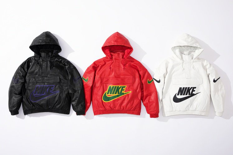 Supreme x Nike 最新聯名系列可拆帽衝鋒衣。圖/摘自Supreme官...