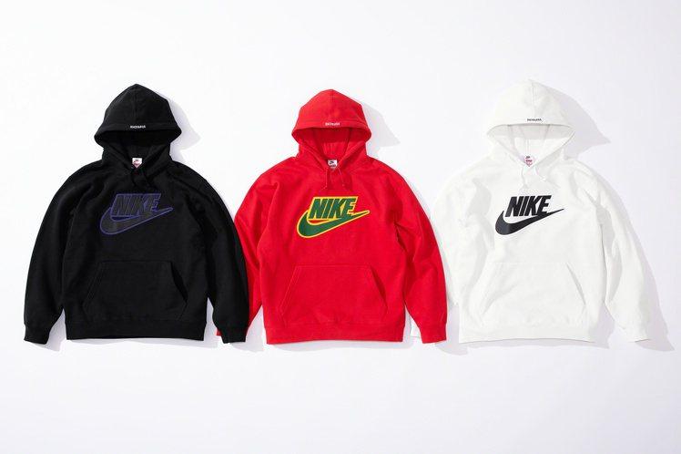 Supreme x Nike 最新聯名系列帽T。圖/摘自Supreme官網
