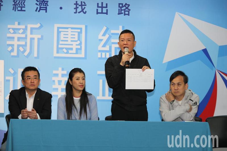 韓國瑜競選辦公室副執行長孫大千(右二)。圖/本報資料照片
