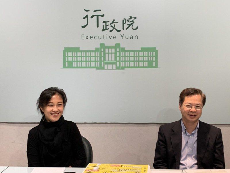 行政院政務委員龔明鑫(右)今天表示,針對「中小企業加速投資行動方案」,行政院長蘇貞昌已核定貸款總額度加碼為1000億元。記者林河名/攝影