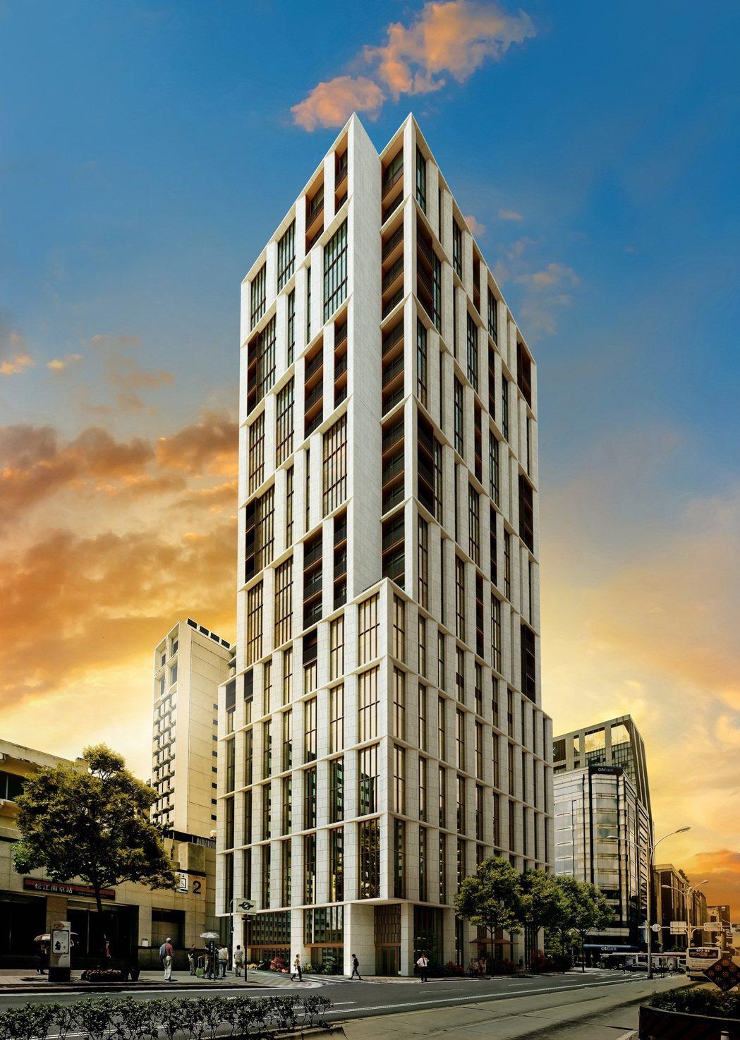 松江南京「琢豐」攜手寒舍集團合作,打造頂級飯店式豪宅。圖/琢豐提供