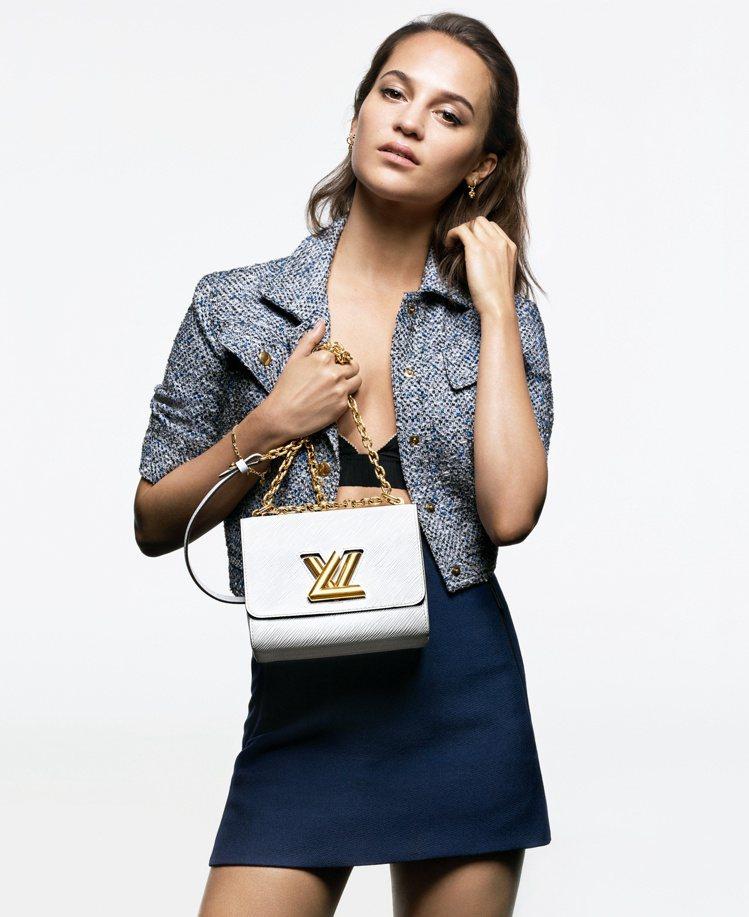 艾莉西亞薇坎德演繹活潑俏麗的Twist包款。圖/LV提供