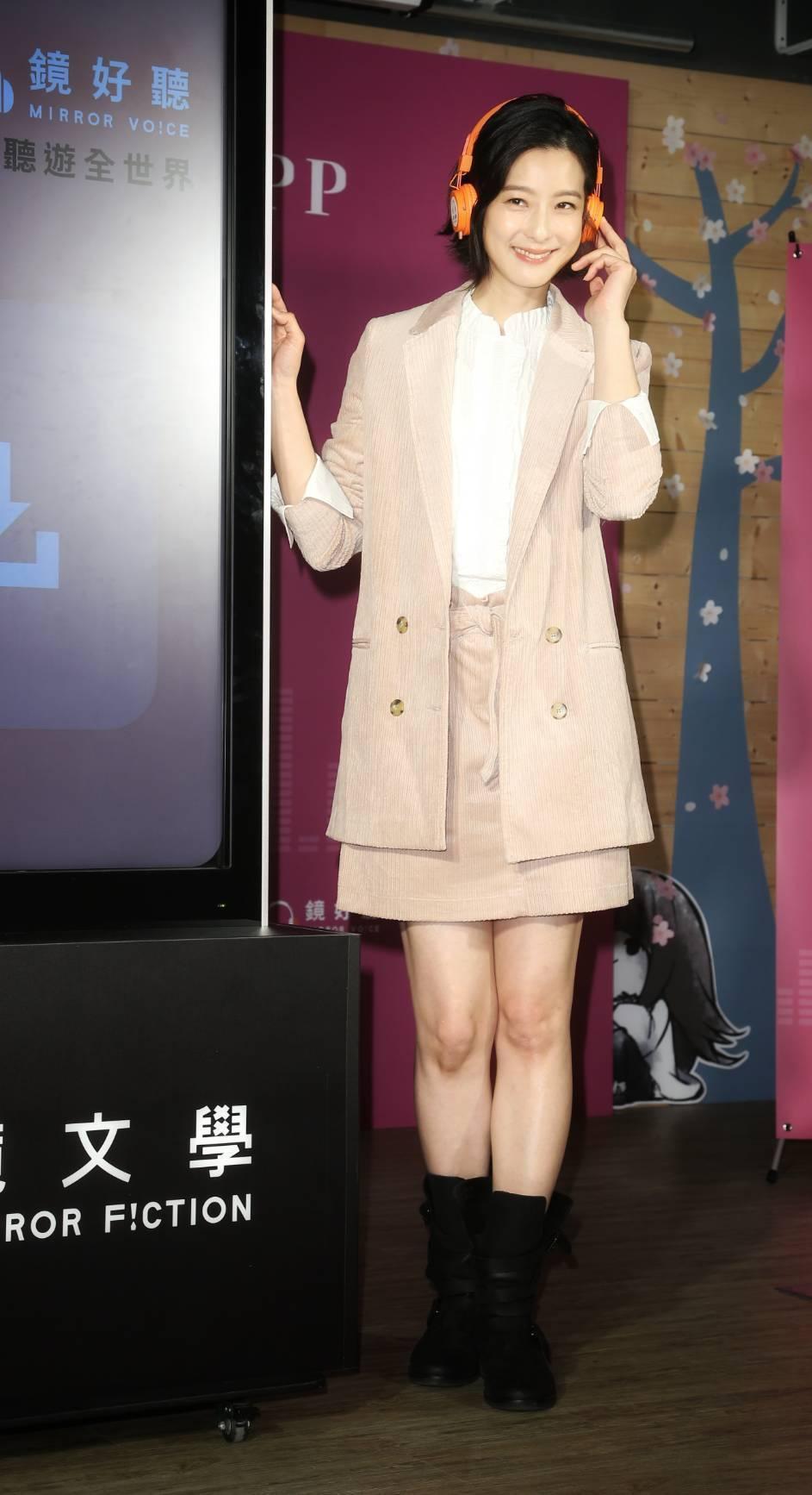 賴雅妍為有聲書「死了一個女記者之後」分飾20角。記者陳立凱/攝影