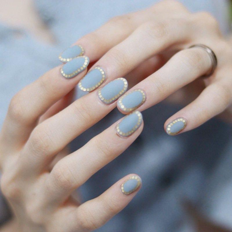 """最美的氣質的安迪色!指尖擦""""藍石蘭""""一秒鐘,以顯示高質感"""