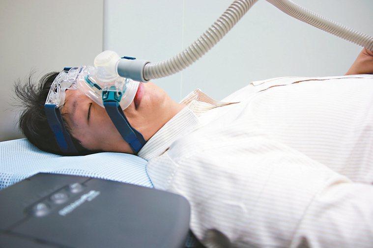 睡眠呼吸中止症示意圖。 本報資料照片