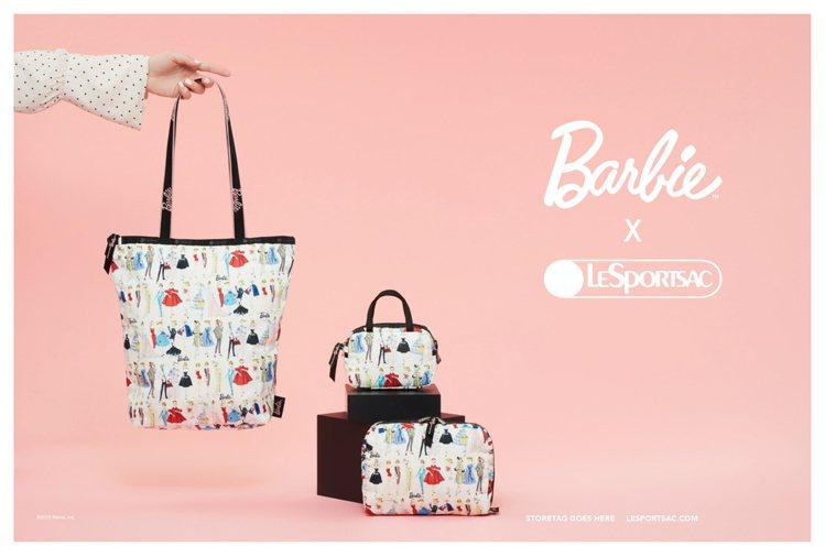 LeSportsac今年以芭比娃娃( Barbie )合作系列壓軸。圖/LeSp...