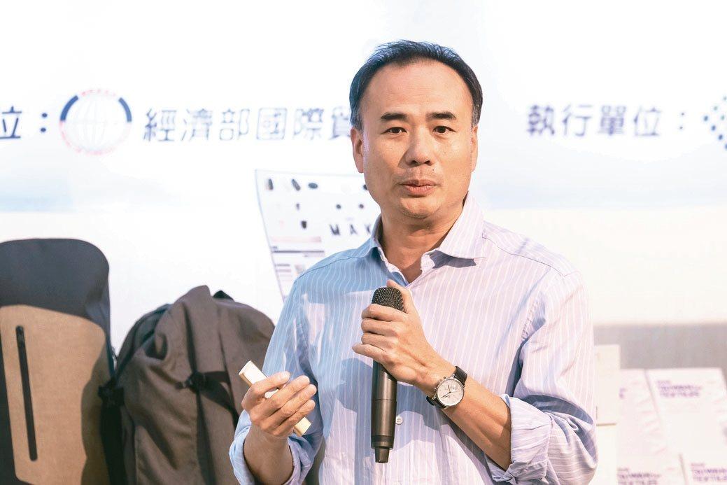 富泰副總經理張能進分享行銷經驗。 圖/紡拓會提供