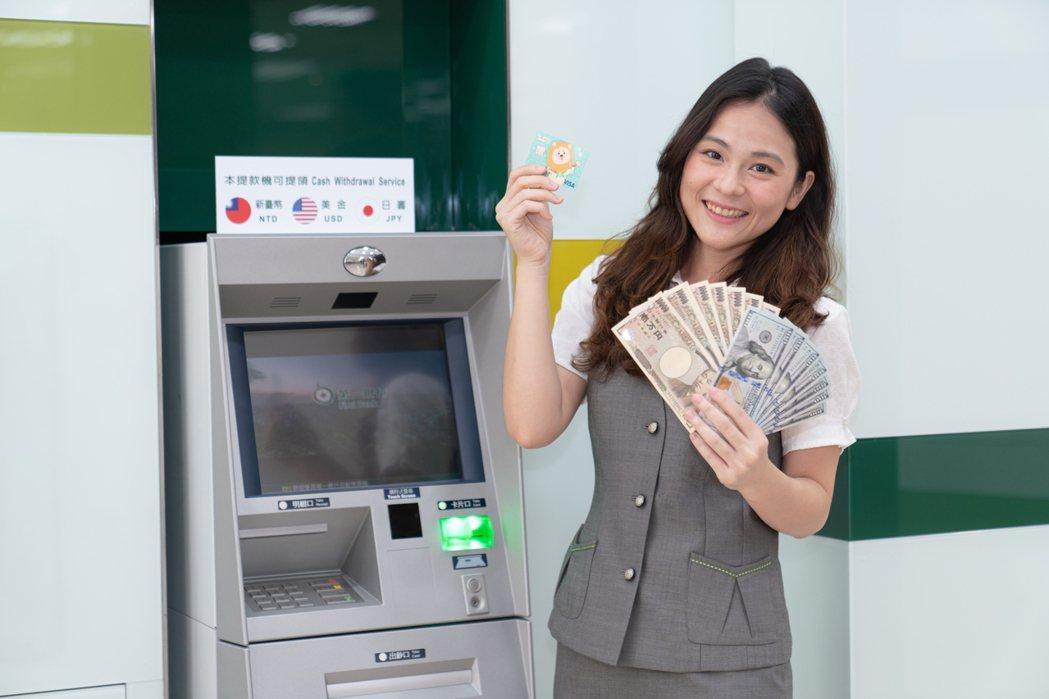 看準出國換匯夯,第一銀行廣設外幣ATM。第一銀行/提供