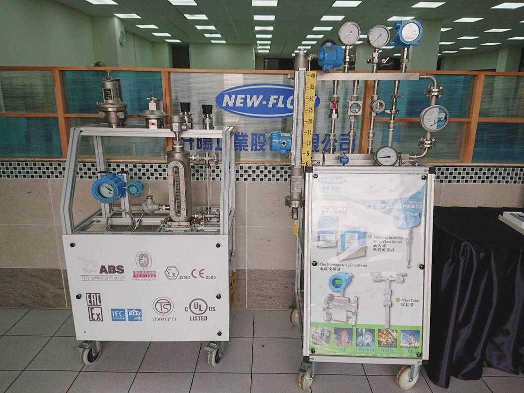 NEW-FLOW馬達冷卻系統(左)及流量、桶槽壓力系統。莊智強/攝影