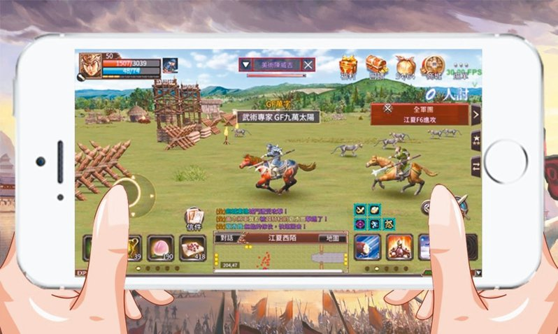 手機遊戲《三國群英傳M》研發中畫面。 圖/智冠提供