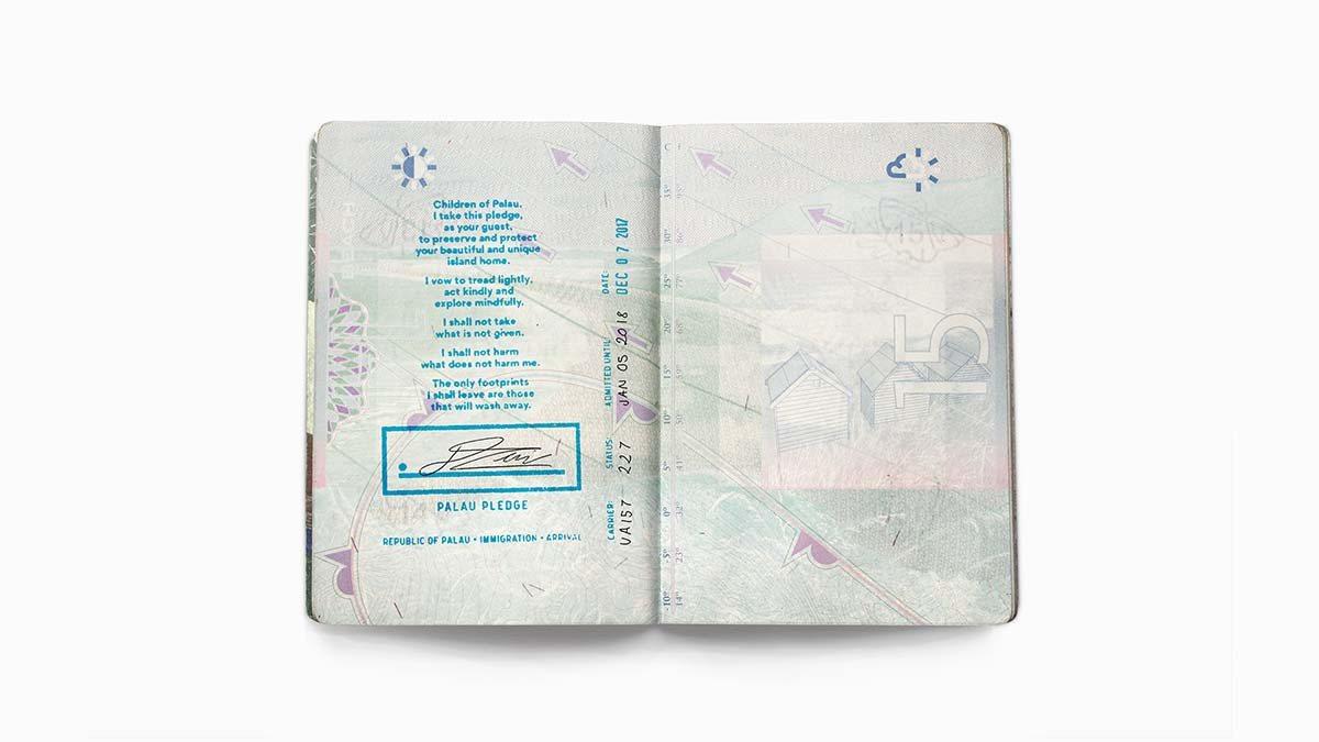 旅客入境帛琉前需簽署《帛琉誓詞》。 圖/台灣創意週 提供