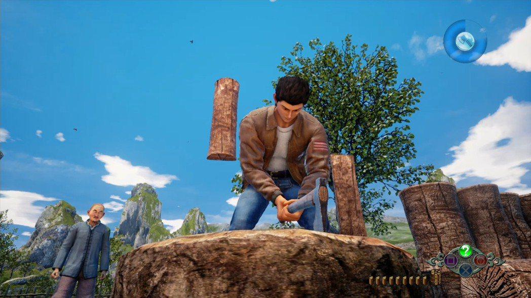 遊戲初期的資金來源,幫忙劈柴,其時機抓準要稍微練習一下。