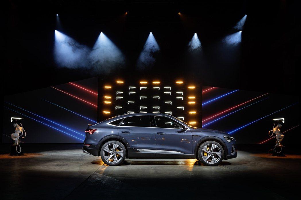 Audi第二款量產純電車:e-tron Sportback。 摘自Audi