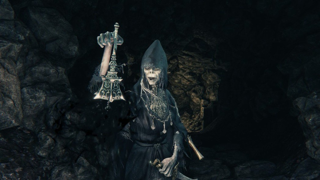 圖說:《血源詛咒》裡,「搖鈴的女人」會召喚敵意入侵者,是許多玩家進入關卡後優先剷...