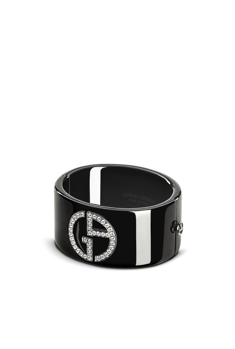 GIORGIO ARMANI Borgonuovo系列高級珠寶手環。圖/嘉裕提供