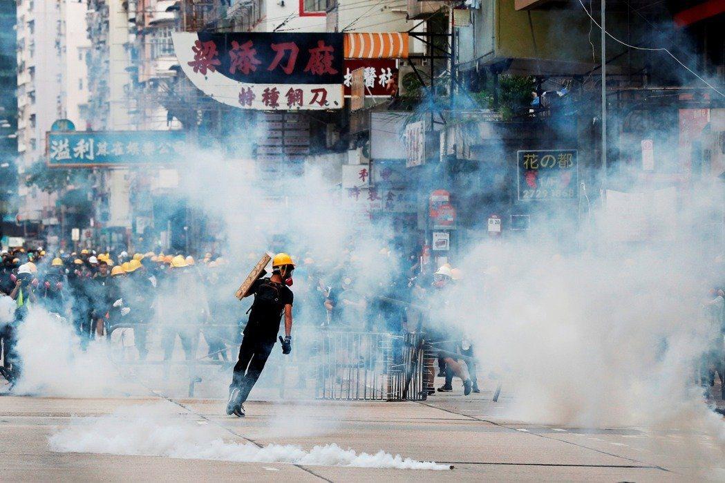 香港反送中運動。路透