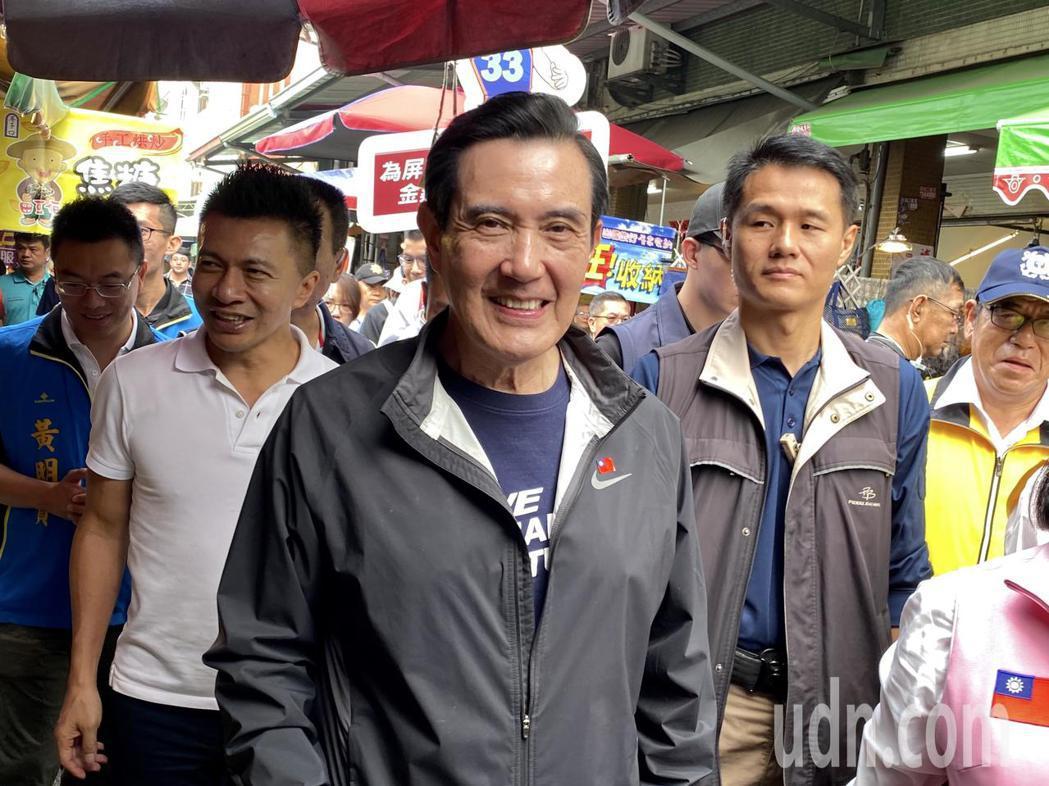 前總統馬英九表示,國民黨還要再加油。記者江國豪/攝影
